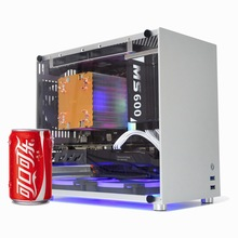 Metalfish s5 alumínio computador caso gaming pc chassis para microatx/itx 24.5*24.5 cm mainboard/sfx power/radiador mid tower