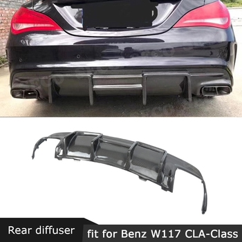 For W117 Carbon Fiber Rear Lip Diffuser Spoiler For Benz W117 CLA200 CLA250 CLA260 CLA45 2013-2019 Back Bumper Guard