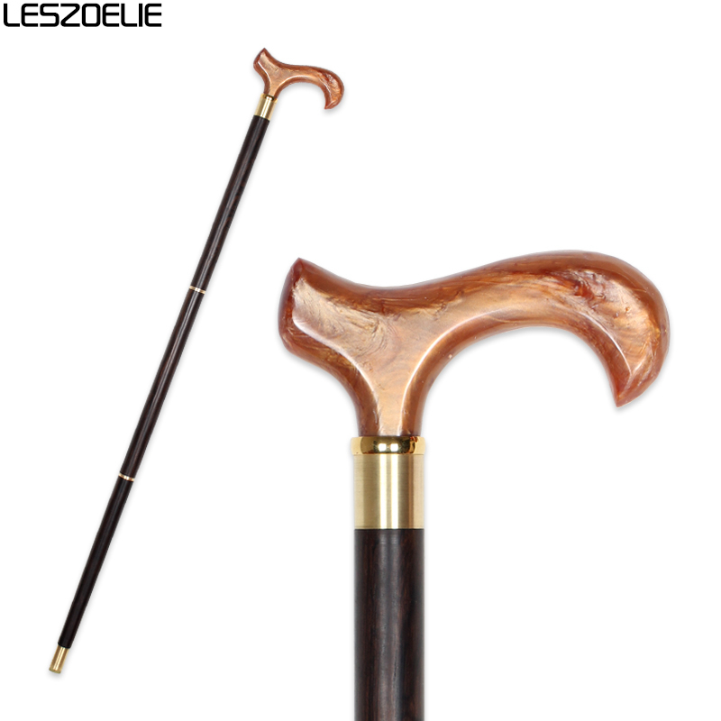 Resin Handle Black Wooden Walking Stick Man Luxury Decorative Cane Women Fashion Elegant Walking Stick Vintage Walking Canes