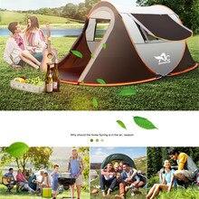 Tente extérieure automatique, Double couche, imperméable à l'eau, Camping, randonnée, 4 saisons, grande famille