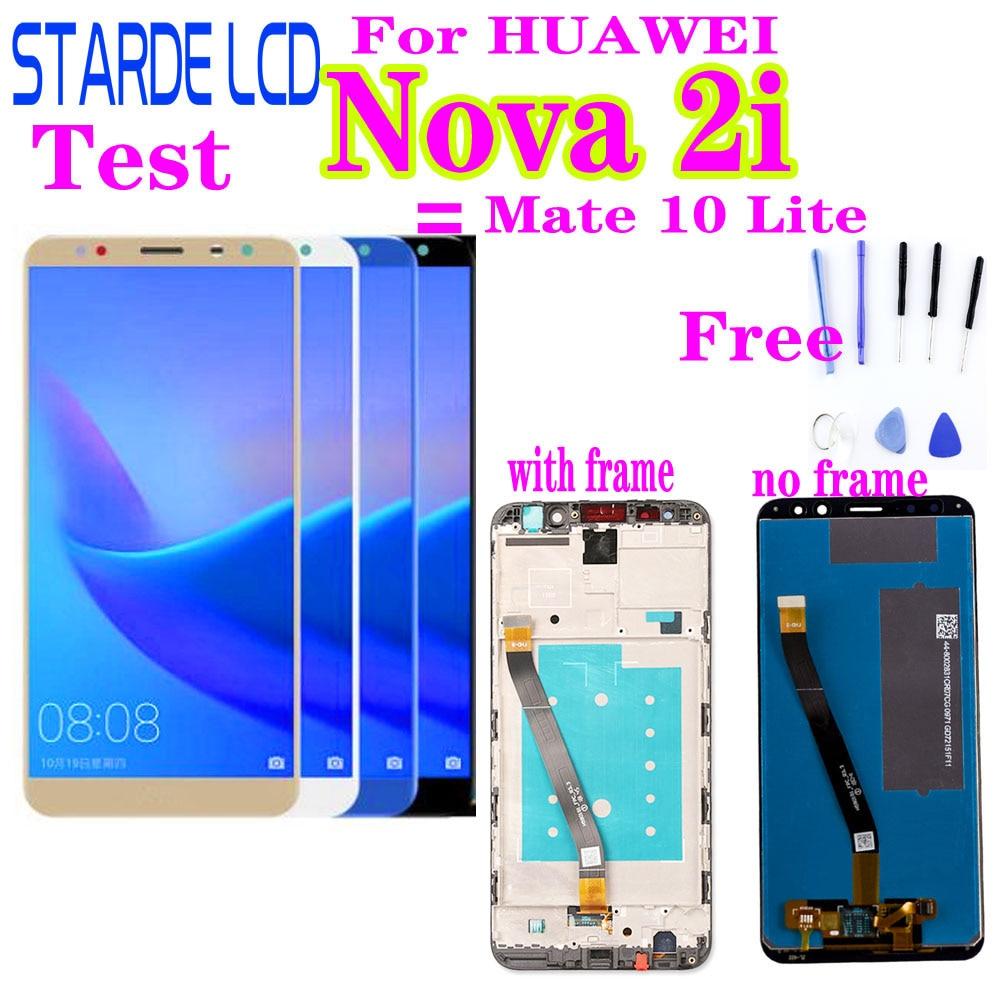 Pantalla táctil de 5,9 Nova 2i para HUAWEI Mate 10 Lite pantalla LCD para Huawei Nova 2i RNE-L22/L01/02/03 LCD