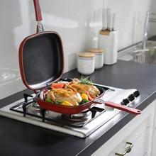 Антипригарный двухсторонний прямоугольник стейк гриль сковорода кастрюля кухонные принадлежности