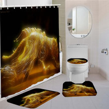 3d принт животных занавески для душа экраны ванной водонепроницаемые