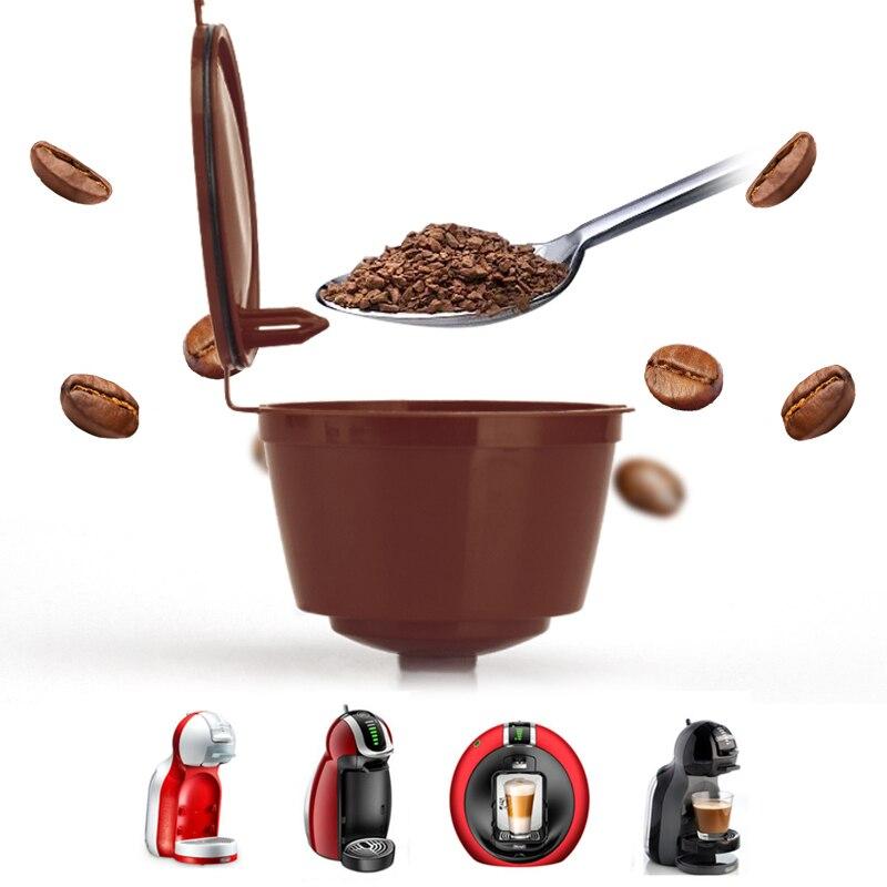 3 шт., подходит для кофейных фильтров dolce&gusto, многоразовые капсульные фильтры для кофе Nespresso, с ложка-кисточка, кухонные принадлежности
