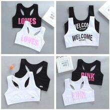 2pcs Girls Training Bras Kids Soft Underwear Girls Accessories Breathable Children Bras for Teen Girl 8-16y