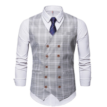 Suit Vest Men's Double-breasted Fashion Waistcoat Business Gentleman Single Item Party Dress