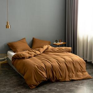 Image 3 - Solid Super Soft Duvet Cover King Queen Full Twin Double Single European Bedding Set Comforter Cover For Home Hotel Bedding