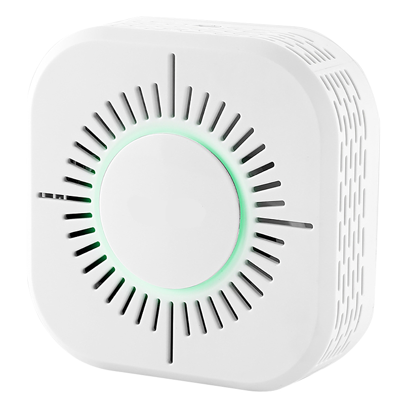 C50W 360 Degrees High Sensitivity Wireless Security Smoke Fire Detector 300M Wireless 433 Transmissions Without Battery
