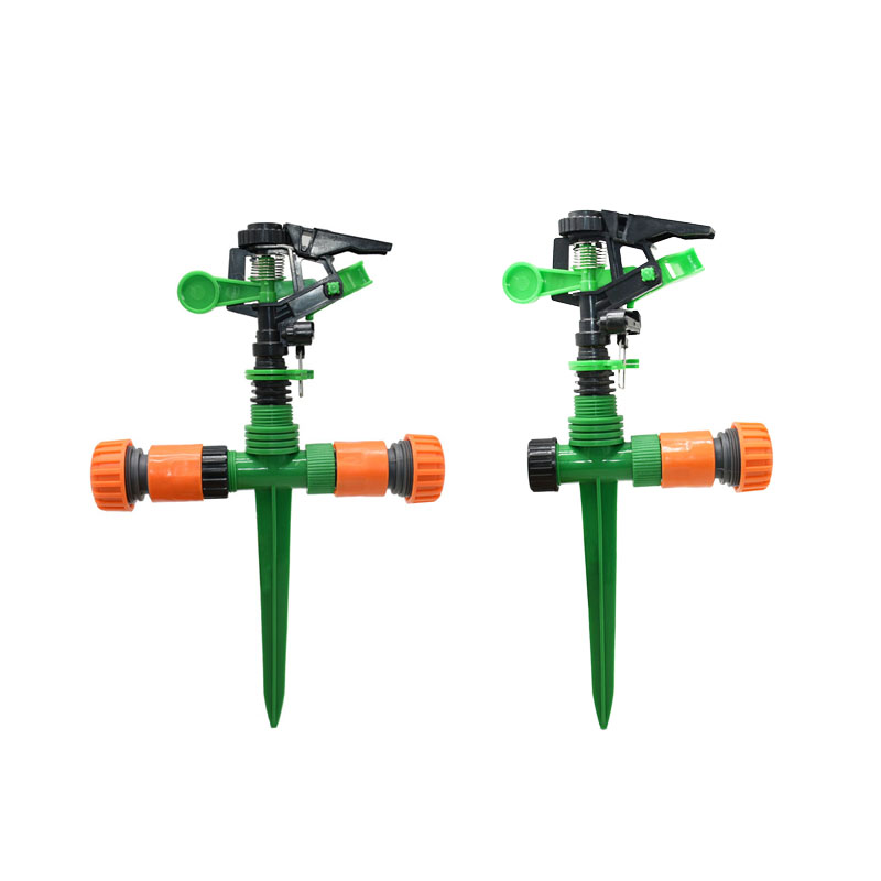 Adjustable Garden Lawn Rotating Sprinkler With Nozzle Holder Rocker Nozzles Garden Lawn Watering 1/2