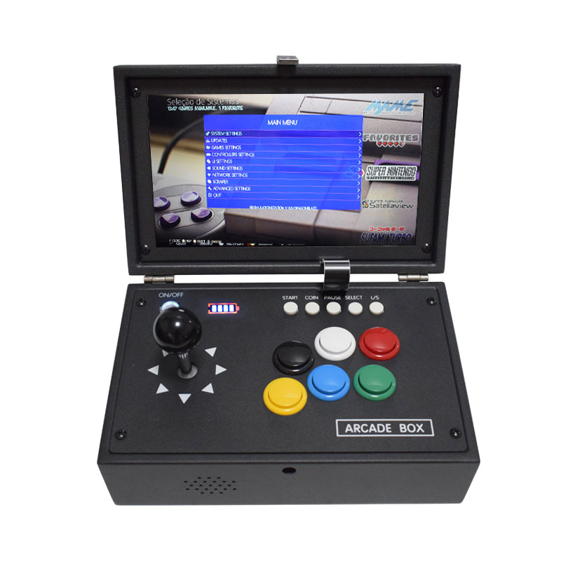Raspberry Pi 4B 10 Inch LCD Video Game Console HDMI To TV Includes 10000 Games Installed Retropie Mini Arcade Machine
