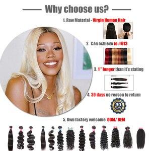 "Image 4 - עלי מלכת שיער פרואני שיער גוף גל 1/3/4 Pcs שיער לא מעובד אריגת צבע טבעי 8 "" 26"" 100% שיער טבעי Weave חבילות M/7A"