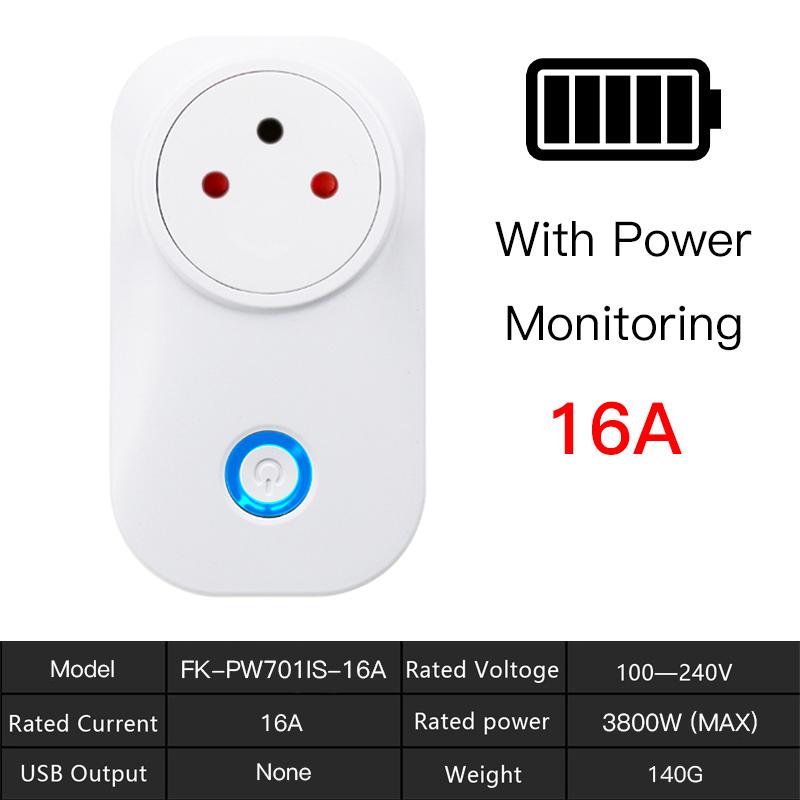 Ha35da3d4b4e946138b069b49c1c4b74de - FrankEver Tuya Cloud 10A 16A WiFi Smart Socket Power Israel Monitor Wireless Plug Work With Alexa Google Home Smart Household