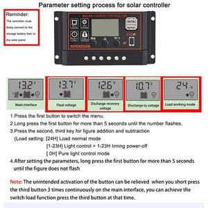 Регулятор солнечной панели, контроллер заряда батареи, ЖК-дисплей, полный 4-ступенчатый ШИМ Контроллер заряда