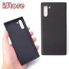 Carbon faser telefon fall für Samsung note10 Galaxy note10 Plus Dünne und licht attribute Halb encirclement Aramid faser material