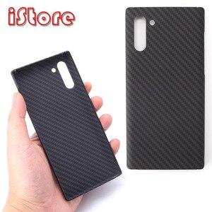 Image 1 - Чехол для телефона из углеродного волокна для Samsung note10 Galaxy note10 Plus, тонкие и легкие атрибуты, полукруглый материал арамидного волокна