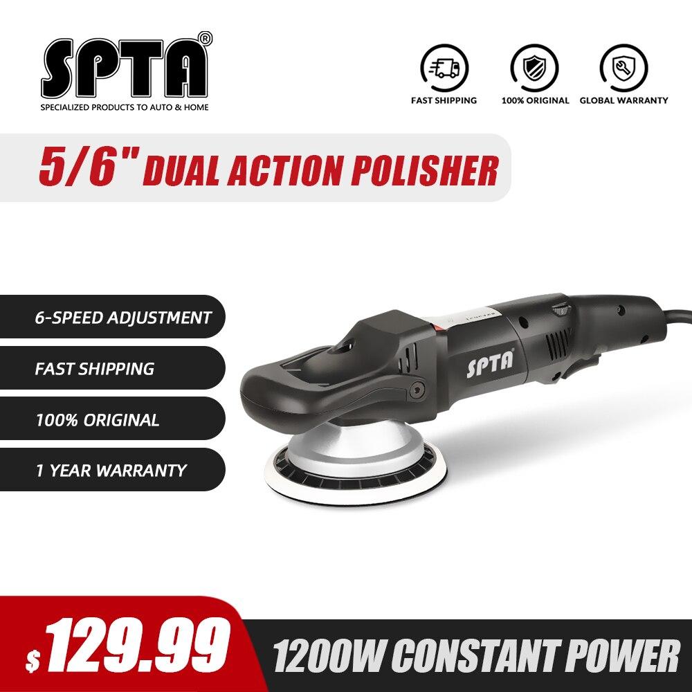 SPTA полировщик двойного действия, 5 дюймов/6 дюймов 125 мм, средство для полировки автомобиля