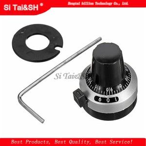 1PCS 3590S 6.35 mm precision scale knob potentiometer knob equipped with multi-turn potentiometer