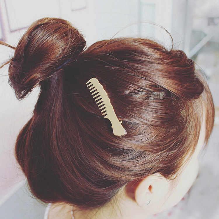 Kẹp tóc Nữ Kéo Kim Cương Trung Thu Tròn Lá Kỳ Lân Tim Đơn Giản Vàng Bạc Cô Gái Món Quà Thời Trang Quyến Rũ