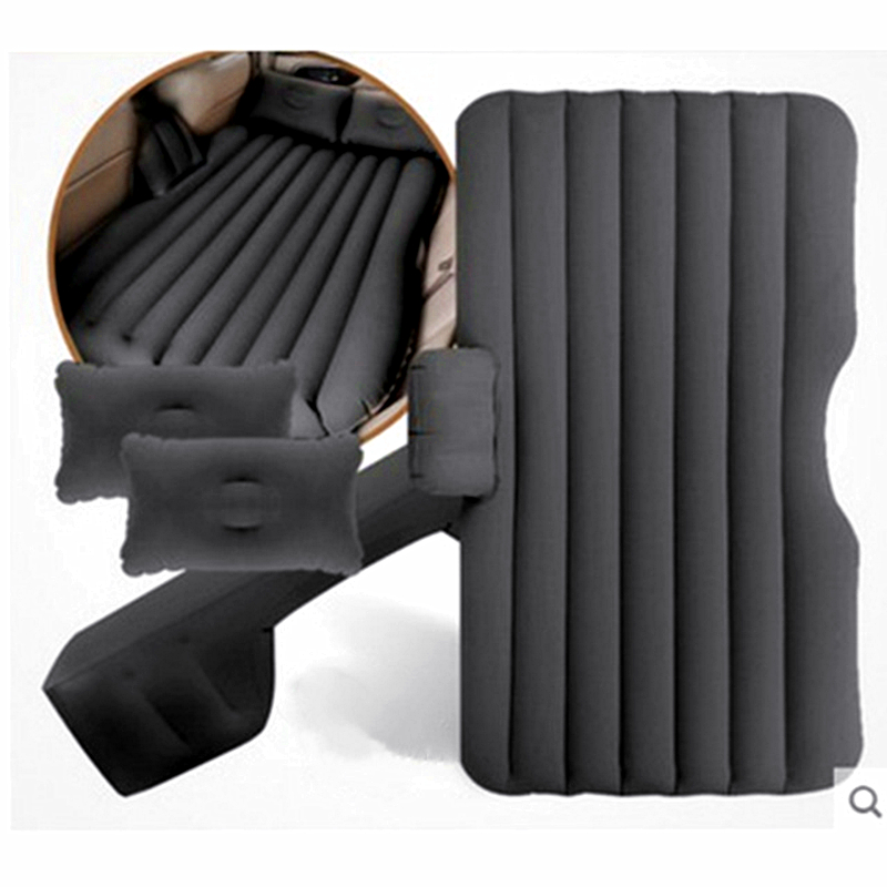 Car Travel Bed Auto Air Mattress Rear Seat Inflatable Sofa Split Bed Camping outdoors Sleeping Rest CushionWithout Inflate Pump