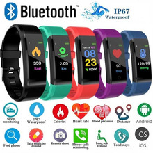 115plus Wristband Health Bracelet Heart Rate Blood Pressure Smart Band Waterproof Fitness Tracker Smart Band Watch Men Women 1EH