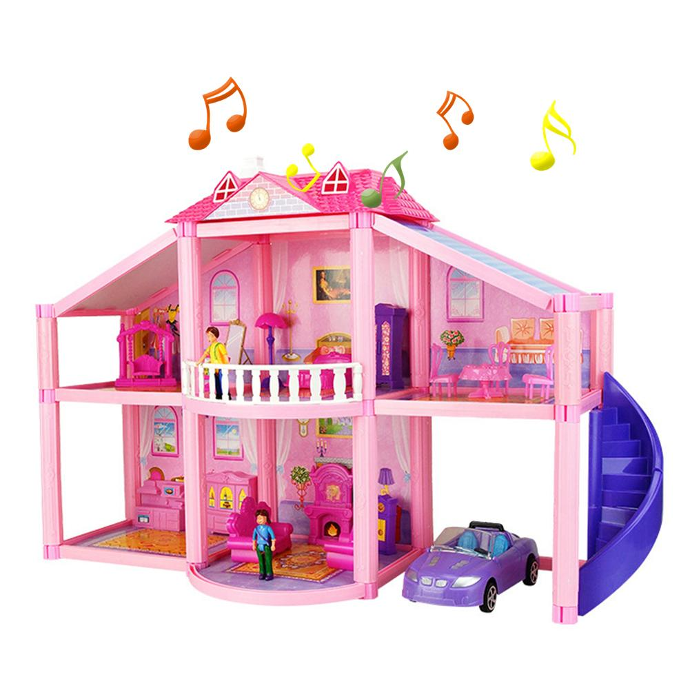 Girl Play House Assembling Blocks Toys Friends City Princess Villa Educational Toys For Children Gifts image