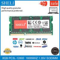 SHELI 8GB 16GB PC3L-12800S/1600 Mhz DDR3L CL11 204-PIN 1.35V RAM SODIMM Memoria Del Computer Portatile