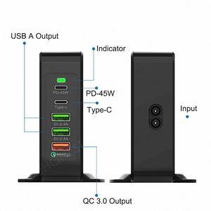 "Image 2 - 75W מהיר תשלום 3.0 USB סוג C פ""ד כוח מתאם טלפון מטען עבור iphone Huawei Macbook אוויר סמסונג Tablet מהיר USB תשלום"