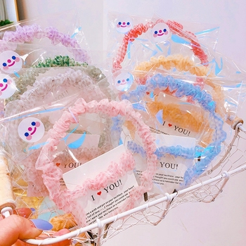 New Chiffo Headband Hairband For Girls Plaid Chic Hair bands Rope Set Fashion Women Girl Hair Accessories Headwear Gift For Her chic beaded hairband for women