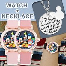 Children's Watch Mickey Minnie Disney Birthday-Gifts Fashion Donald Casual Student Quartz