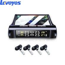 Solar Tire Pressure Monitor TPMS Tyre Pressure Detector Digital LCD Display Color Screen Built In Sensors Monitoring System C240 цена 2017