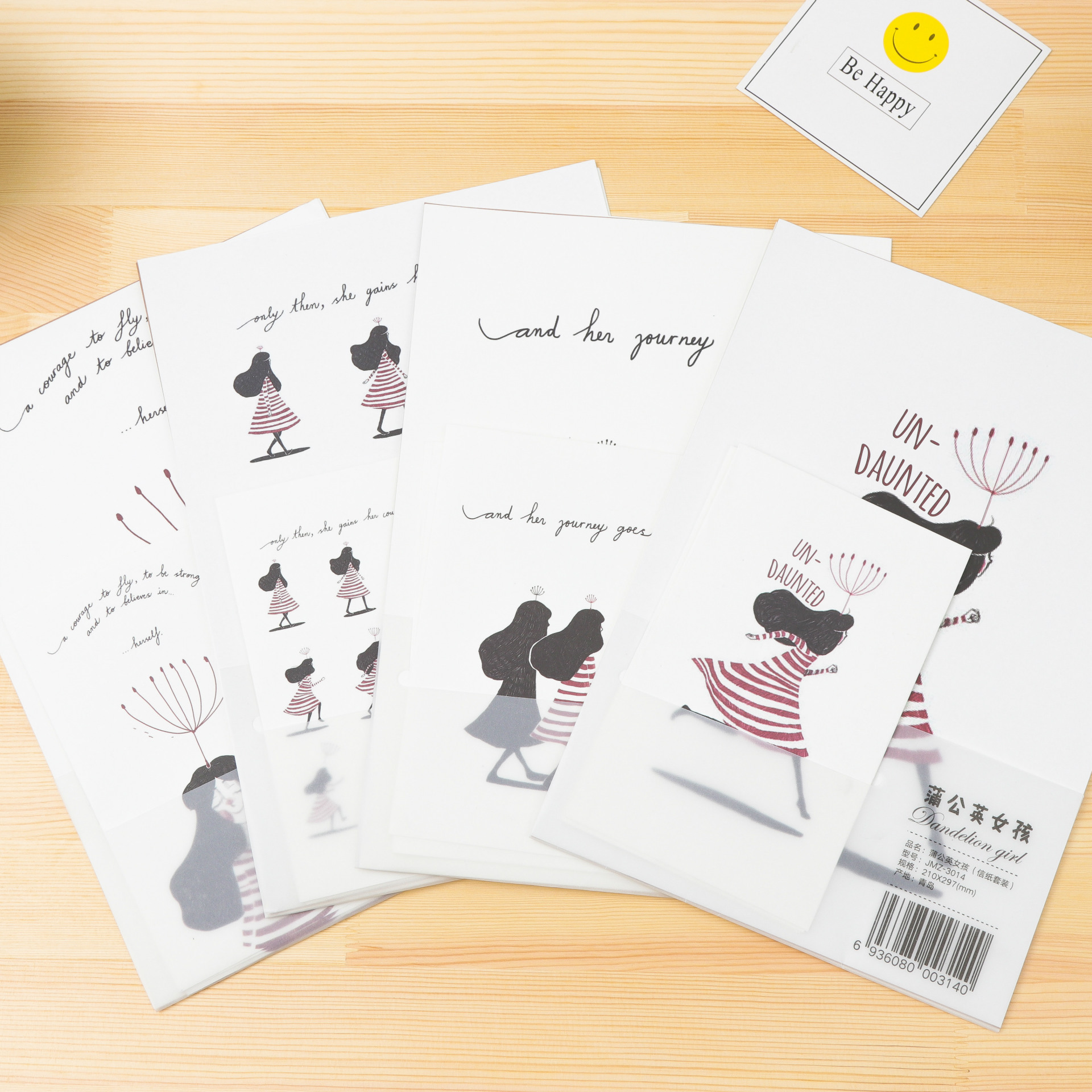 Europe And Korea Stationery Japanese Style Hipster Cartoon Writing Paper Envelop Package Retro Love Letter Romantic Writing Pape