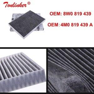 Image 5 - Kabine Filter 4M0819439A 8W0819439 Für Audi Q7 4M 2015 2019 2,0 TFSI 3,0 TDI 3,0 TFSI Quattro Modell 1Pcs Gebaut in Carbon Luftfilter