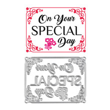 Eastshape Special Day Letter Dies Lace Metal Cutting for Card Making Scrapbooking Embossing Cuts Craft Frame