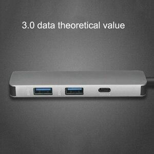 Image 5 - USB C HUB USB C Zu HDMI 4K Hub USB 3,0 Adapter PD/Micro Usb Lade Port für MacBook pro Samsung Galaxy S8 Typ C Hub