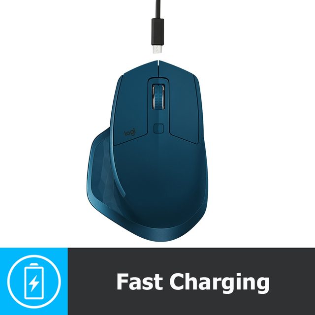 Logitech MX MASTER 2S 7 Buttons Dual Mode 4000DPI Gaming Mouse Macro Definition Rechargeable USB Wireless Bluetooth Laser Mice 3