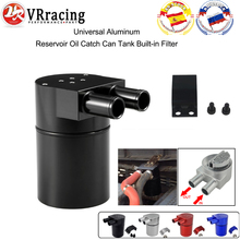 Baffled Billet Aluminum Oil Catch Tank/Can Round Can Reservoir Turbo Oil Catch can/ Can Catch for BMW/VW/AUDI 19MM Barb VR-TK60