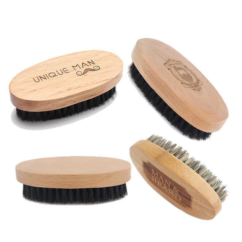 2020 nouvelle brosse à barbe naturelle Hemu pour hommes Massage du visage en bambou qui fait des merveilles pour peigner les barbes et les moustaches