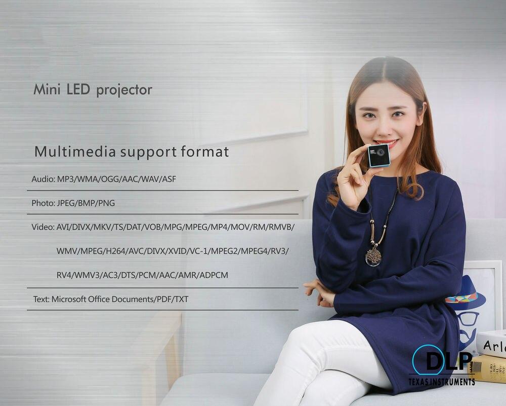 UNIC P1 série projecteur P1s poche maison film projecteur Proyector projecteur Mini DLP mini projecteur sans fil projection - 6