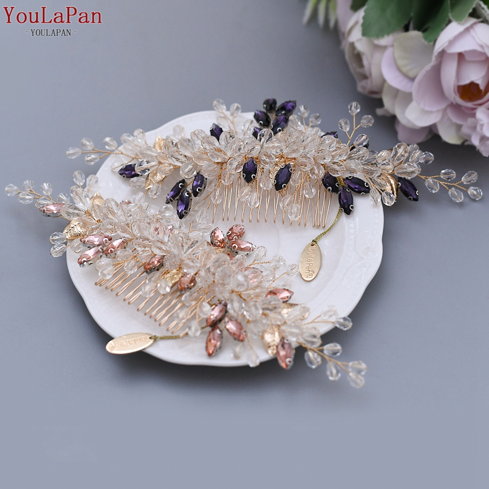 Купить с кэшбэком TOPQUEEN HP77 Wedding Tiara Bridal Combs Rhinestone Wedding Headwear Wedding Hair Accessories Bridal Headdress Wedding Hair Comb