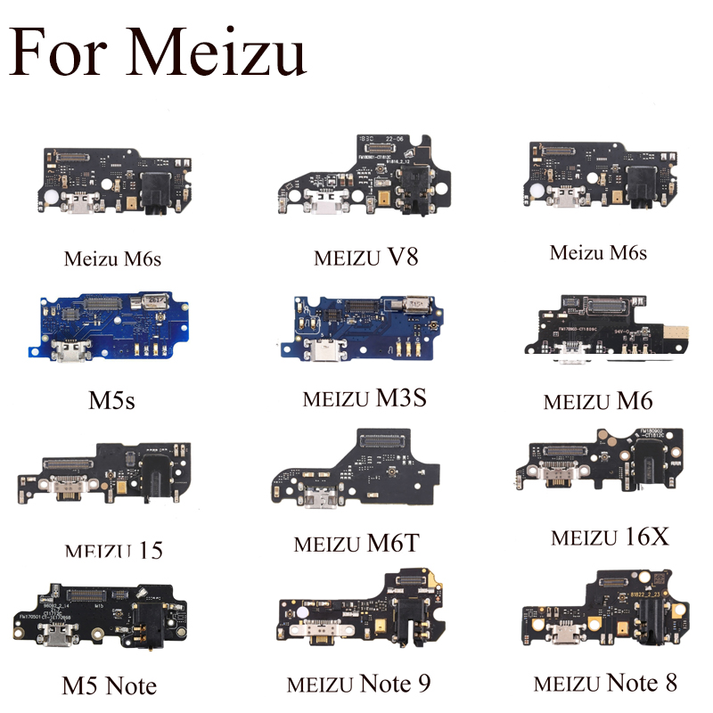 For Meizu M5s M3S NOTE 8 M6S V8 16X 15 New Micro Dock Connector Board USB Charging Port Flex Cable Repair Parts