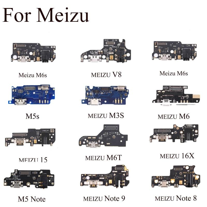 For Meizu M5s M3S NOTE 8 M6S V8 16X 15 New Micro Dock Connector Board USB Charging Port Flex Cable Repair Parts