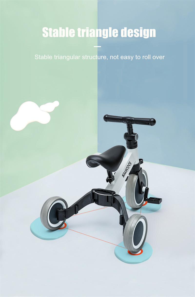 Ha35ffe4eea414c93a9e44482143f76a5I 3 in 1 Kids Tricycle + Balance bike + Baby walker Child Push Bike Toddler Learn to Ride Bicycle Ride On Toy Boy Girl Xmas Gift