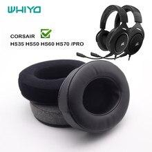 Whiyo – oreillettes de remplacement en velours doux, pour CORSAIR HS35 HS50 HS60 HS70 PRO, housse de coussin de casque