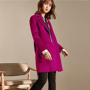 Image 5 - Herbst Winter Frauen Wolle Mäntel 2019 Neue Koreanische version Hohe Qualität Jacken Schlank Cardigan Woolen Frauen Jacke Mantel Rot