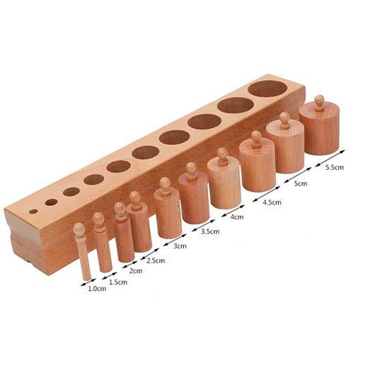 Bloque de cilindros de material montessori (Juego de 4) de juguete - 3