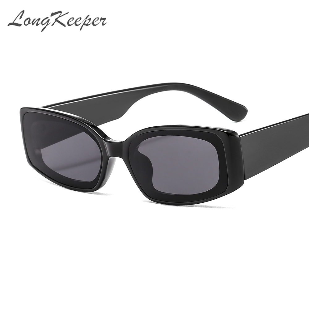 LongKeeper Vintage Sunglasses Women 2020 Brand Designer Retro Sunglass Rectangle Sun Glasses Female UV400 Lens Eyewears