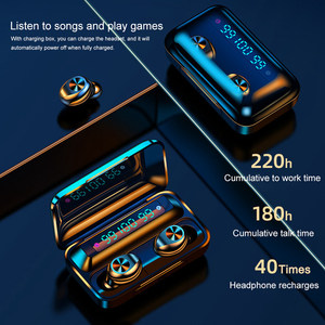 Image 4 - True Wireless Bluetooth 5.0 Earphone F9 TWS High Fidelity Stereo Sound Headset Sport Running Haedphones With Charging Box