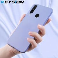 KEYSION-Funda de silicona líquida para Huawei Honor 9X, versión Global, funda trasera del teléfono suave de goma a prueba de golpes para Honor 9X Premium