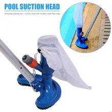 Piscina aspirador de pó limpeza desinfecção ferramenta semicircular cabeça sucção lagoa fonte spa piscina aspirador de pó escova