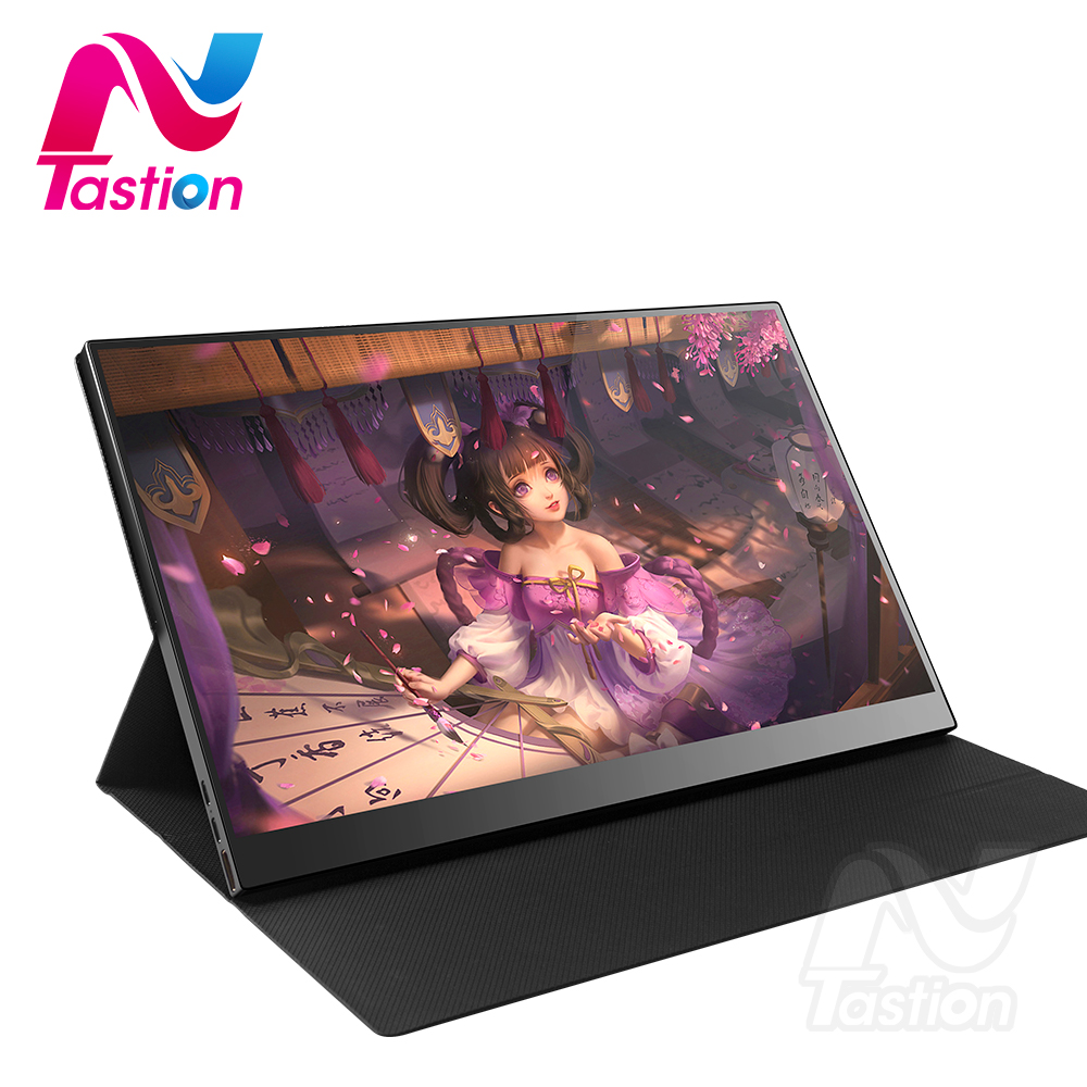 Lantastion 15.6 inch portable monitor hdmi type-c display for laptop computer phone xbox switch ps3 ps4 gaming monitor image